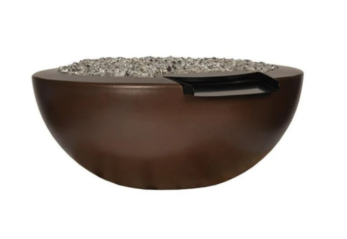 Legacy Round Fire & Water Bowl with Electronic Ignition - Free Cover ✓ [Fire by Design]