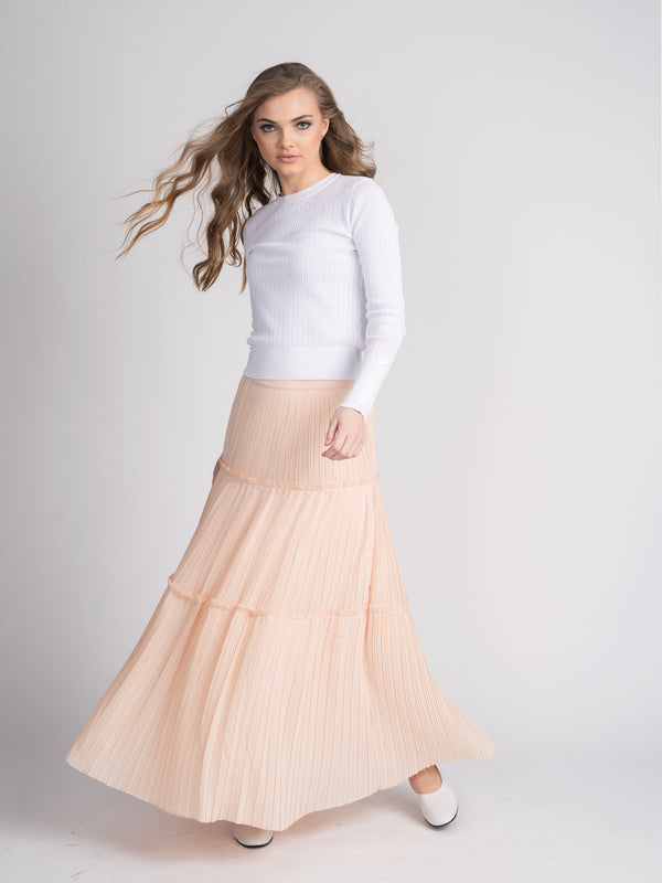PLEATED PEASANT SKIRT