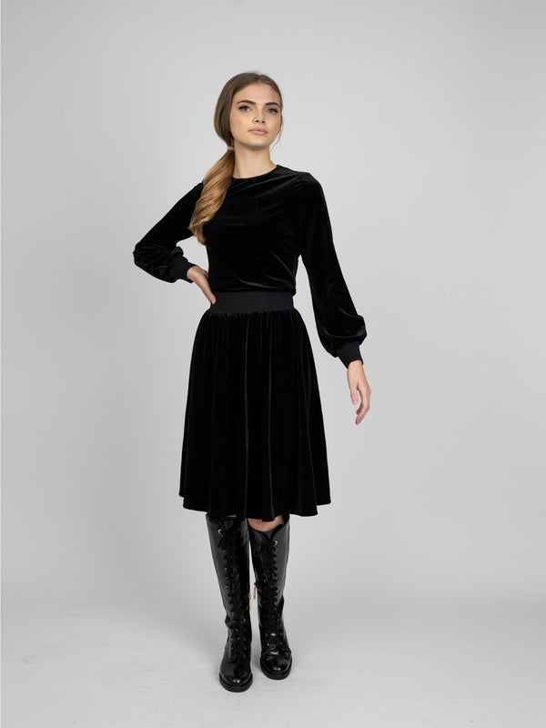 VELOUR BUBBLE SLEEVE- 70% OFF!-Fame on Central