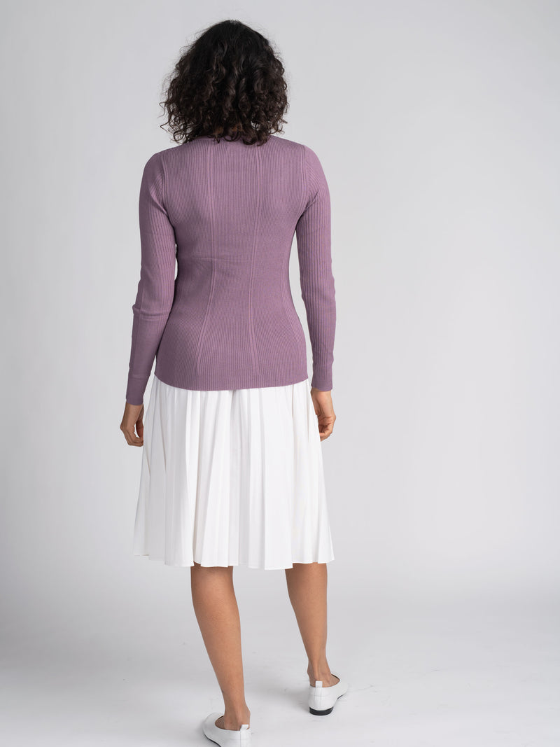 MIXED RIBBED SWEATER-SUMMER COLLECTION