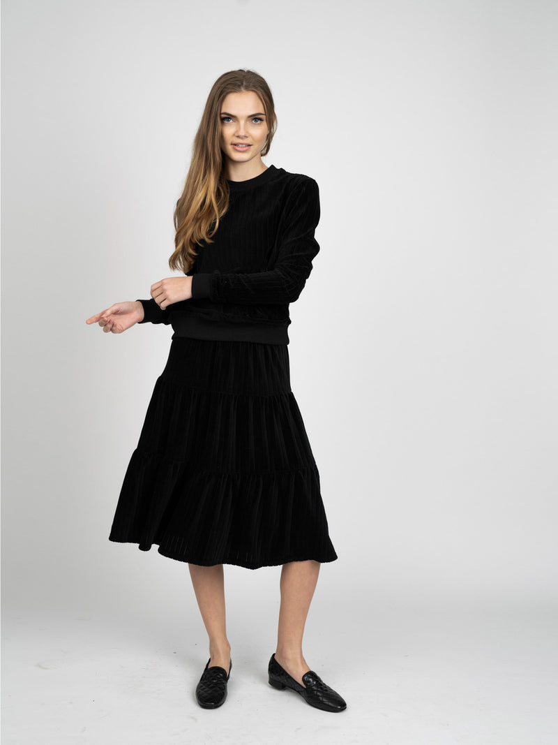 VELOUR RIB SKIRT- 70% OFF!-Fame on Central