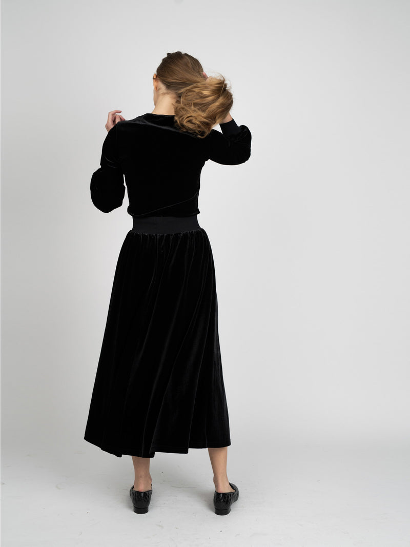 VELOUR MAXI SKIRT- 70% OFF!-Fame on Central