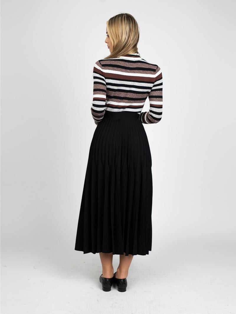 ABSTRACT STRIPE SWEATER-Fame on Central