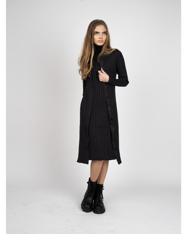 WIDE RIB DRESS-Fame on Central