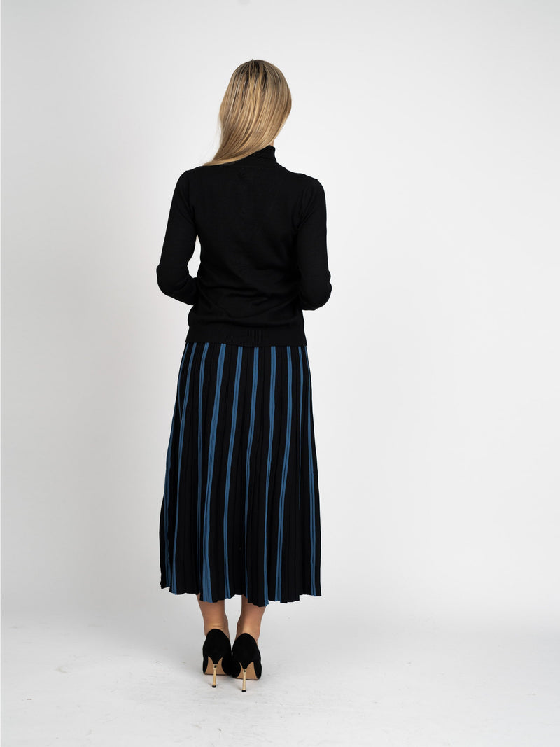 TWO-TONE MIX SKIRT-Fame on Central