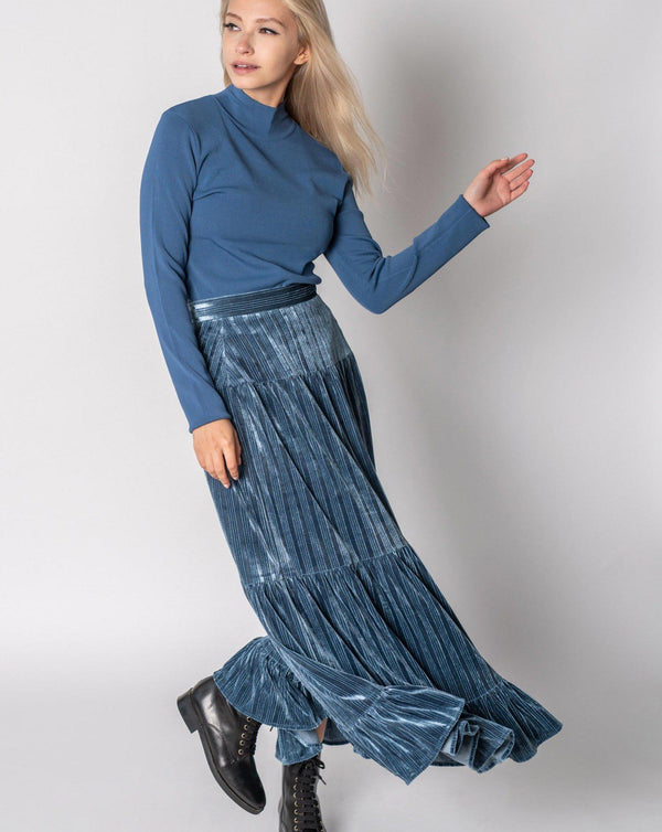 VELVET PEASANT SKIRT - 70% OFF!-Fame on Central