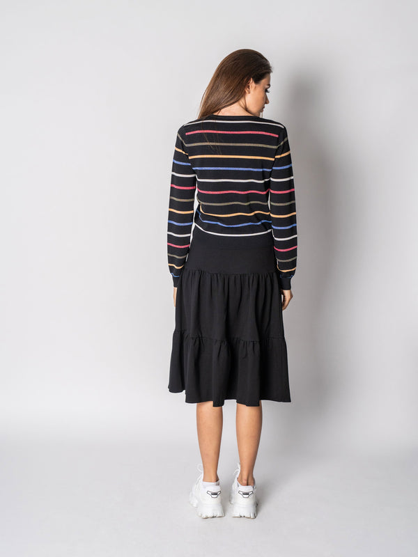 COLOR STRIPE SWEATER