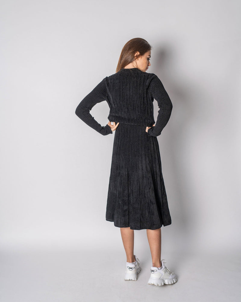 RIBBED CHENILLE DRESS