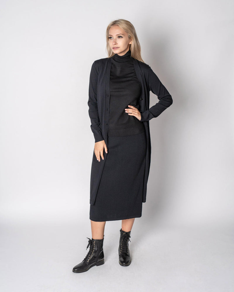 "STRAIGHT KNIT SKIRT 23""-Fame on Central"