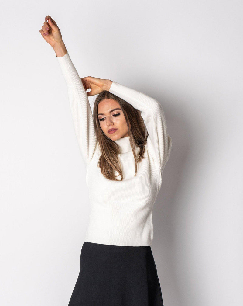 HIGH NECK SWEATER-Fame on Central