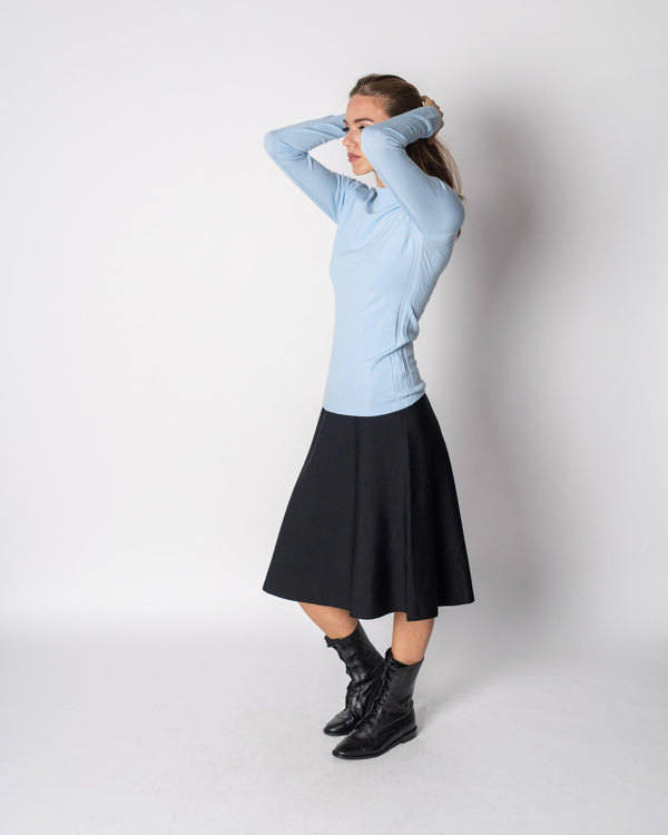 KNIT FLARED SKIRT-29""