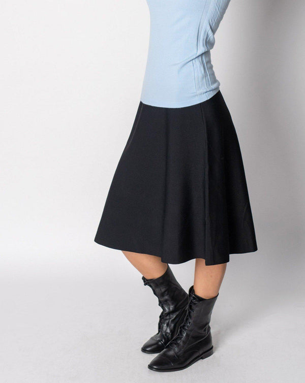"KNIT FLARED SKIRT-25""-Fame on Central"