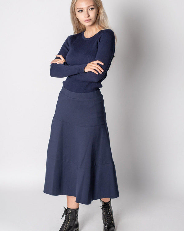 "TIER PONTE SKIRT 25""-Fame on Central"