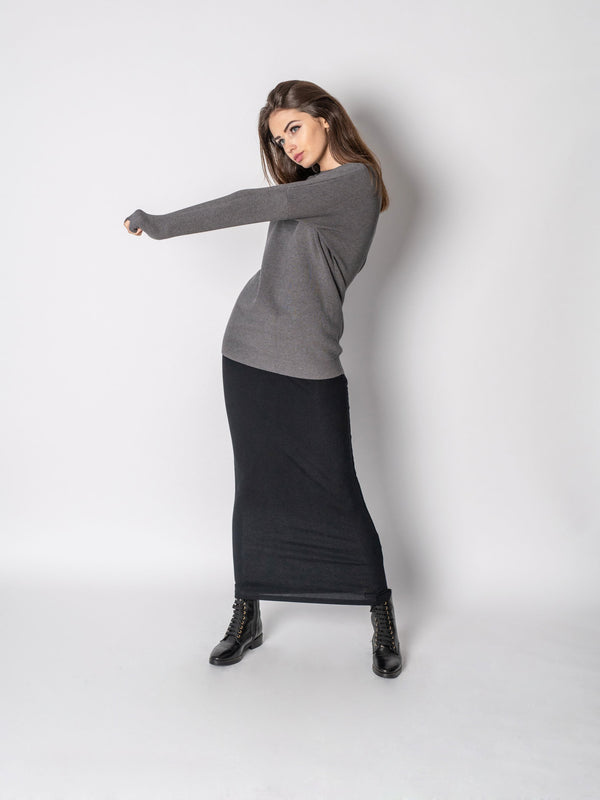 LIGHTWEIGHT SLINKY SKIRT-Fame on Central