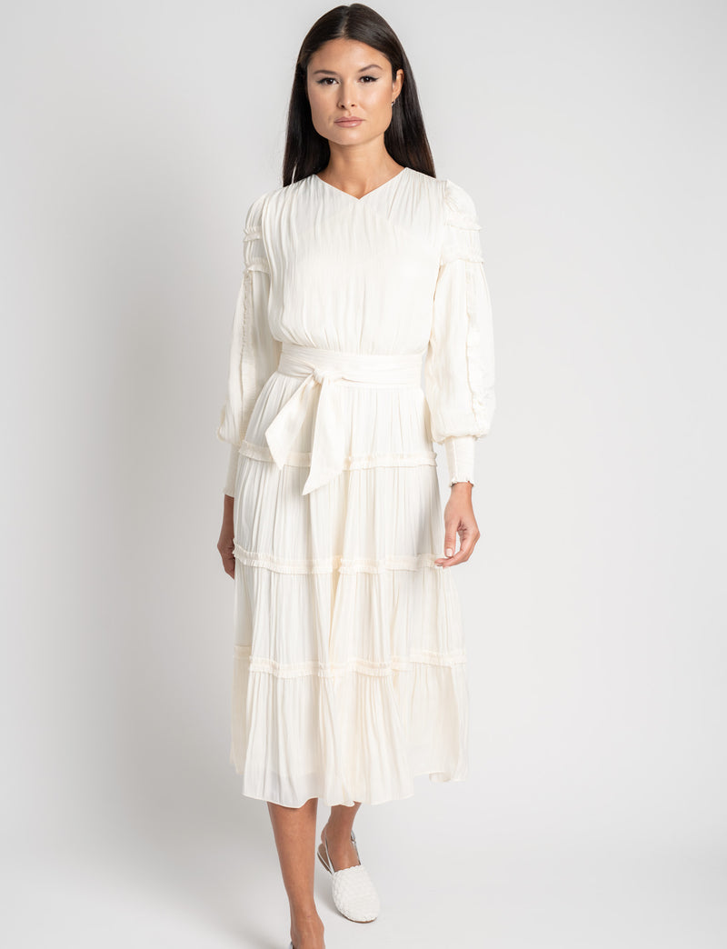 RUFFLE TIERED DRESS-Fame on Central