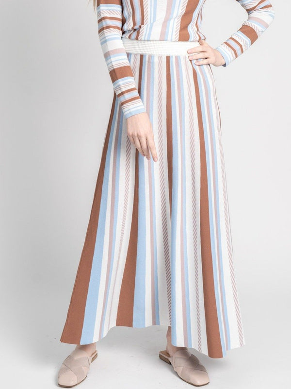 KNIT STRIPED SKIRT-Fame on Central