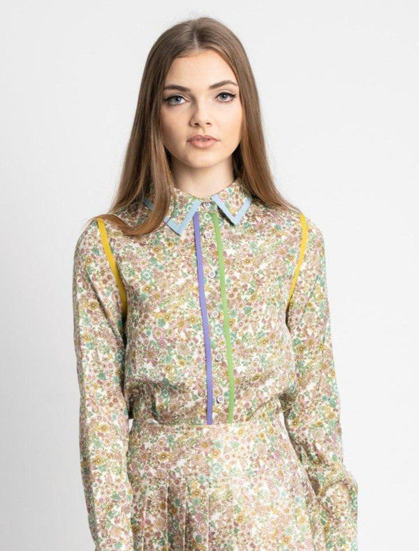 BLOUSE WITH PIPING-Fame on Central