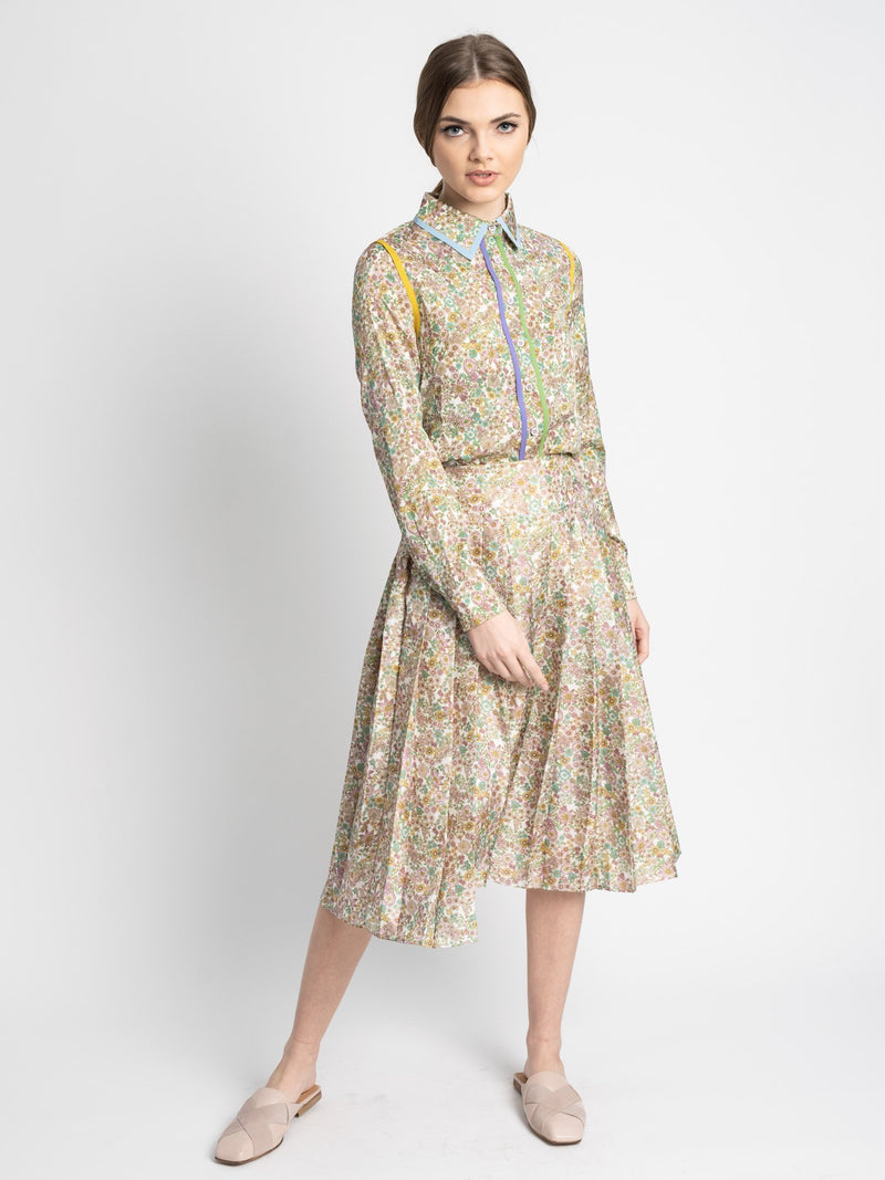 PRINTED SILK SKIRT-Fame on Central