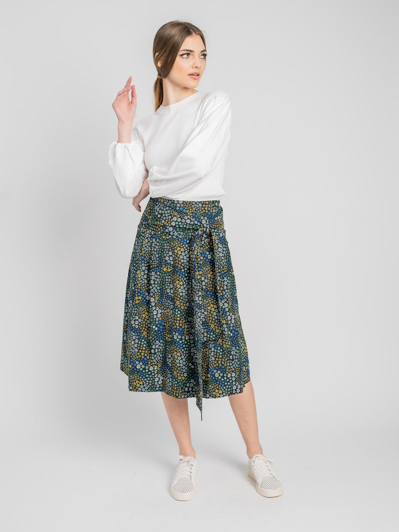 BELTED WRAP SKIRT-Fame on Central