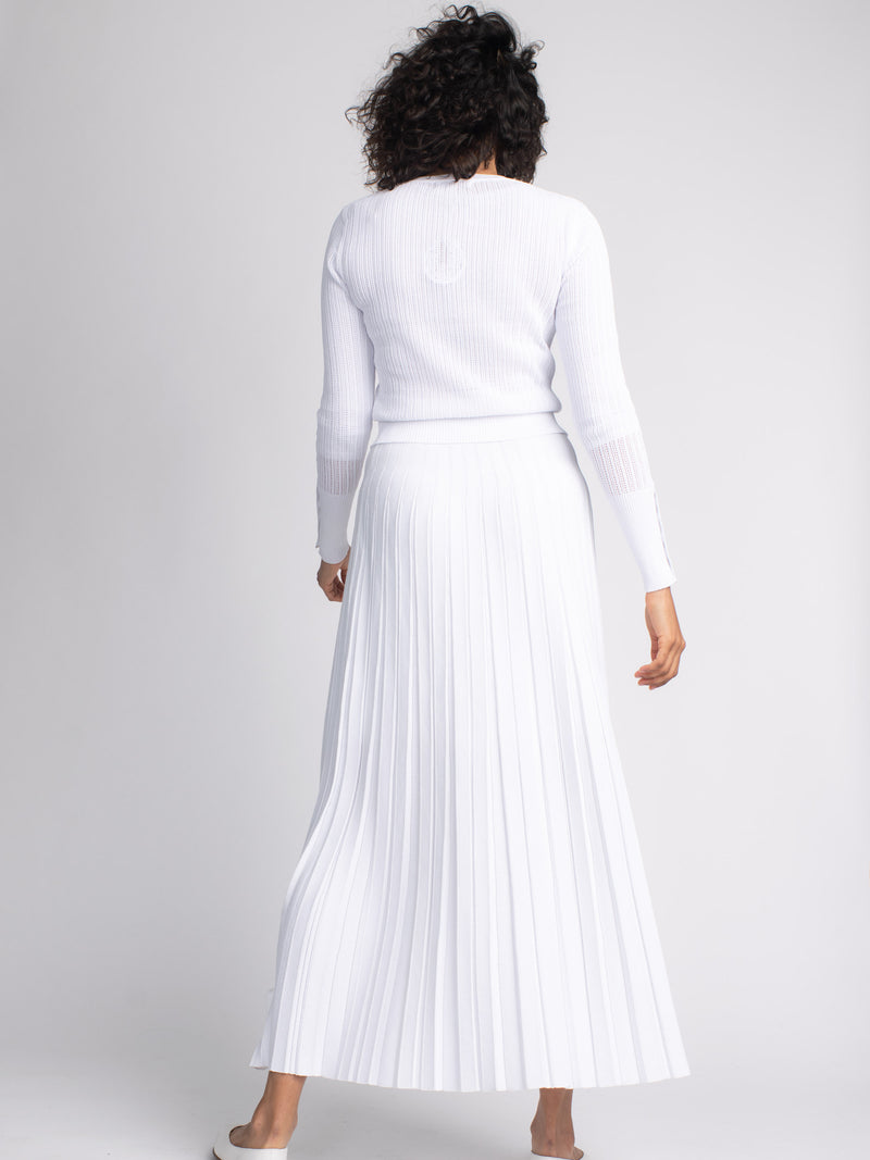 KNIT MAXI PLEAT SKIRT-SUMMER COLLECTION