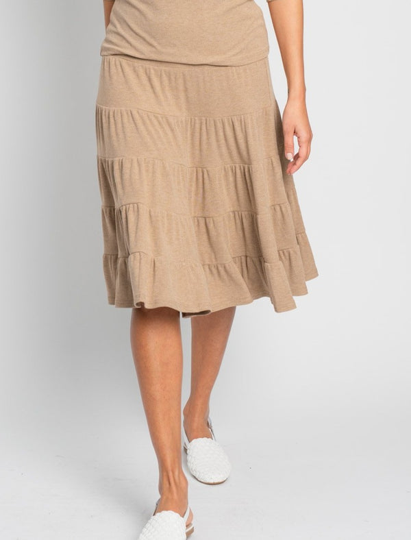 RIBBED PEASANT SKIRT-Fame on Central