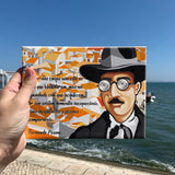 The tile is 15 in x 20 in fernando pessoa