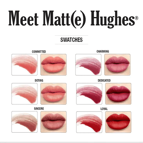 the Balm Meet Matte Hughes Set of 6 Mini Lipsticks vol.1