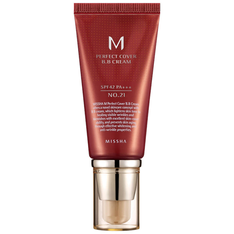 MISSHA M PERFECT COVER BB CREAM SPF42/PA+++ - NO.21/LIGHT BEIGE 50ML