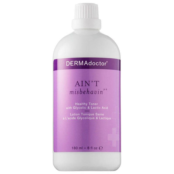 Dermadoctor Ain'T Misbehavin' Healthy Toner With Glycolic And Lactic Acid 180 Ml