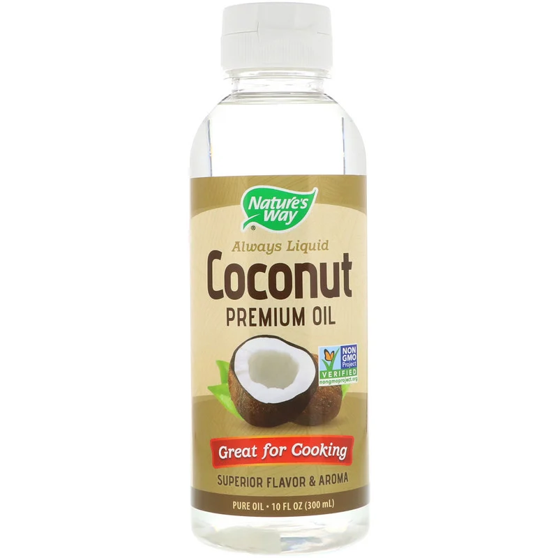 Nature'S Way Liquid Coconut Premium Oil, 10 Fl Oz (300 Ml)