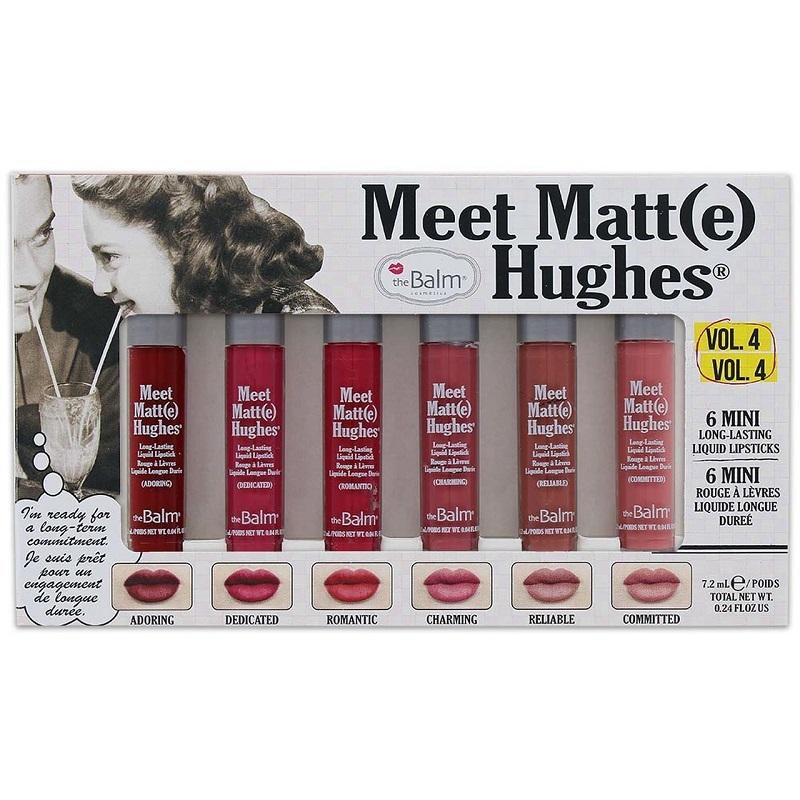 The Balm Meet Matt Hughes 6 Mini Long Lasting Liquid Lipsticks Vol 4