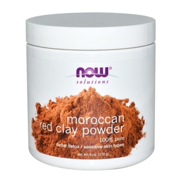 Now Solutions Moroccan Red Clay Powder, 170 G