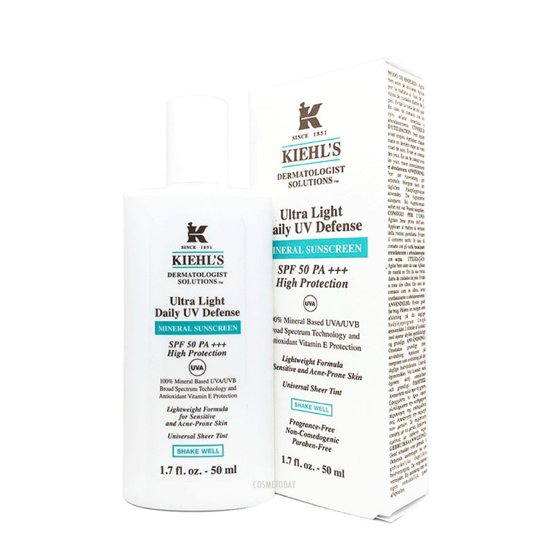 Kiehl'S Ultra Light Daily Uv Defense Mineral Sunscreen Spf50 - 50Ml