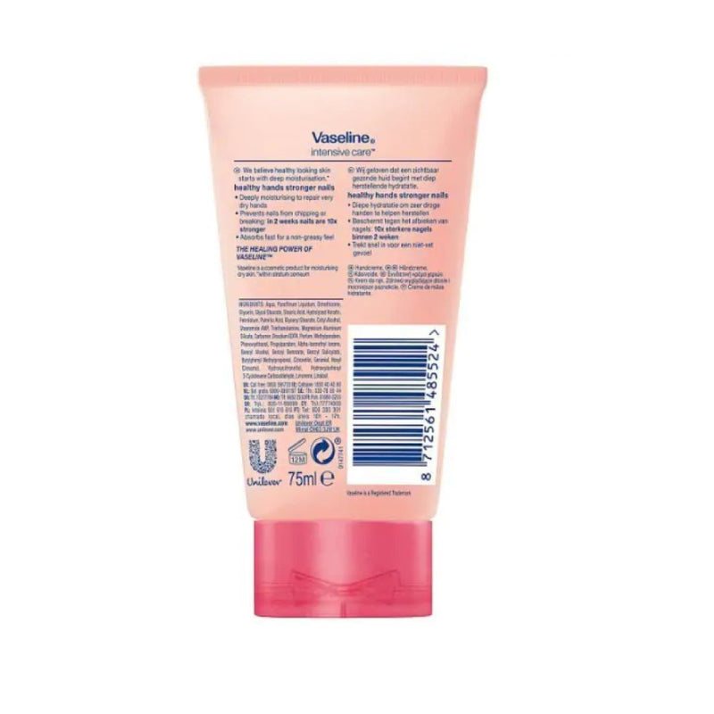 Vaseline Intensive Care Hand Lotion, Healthy Hands Stronger Nails – 75 Ml