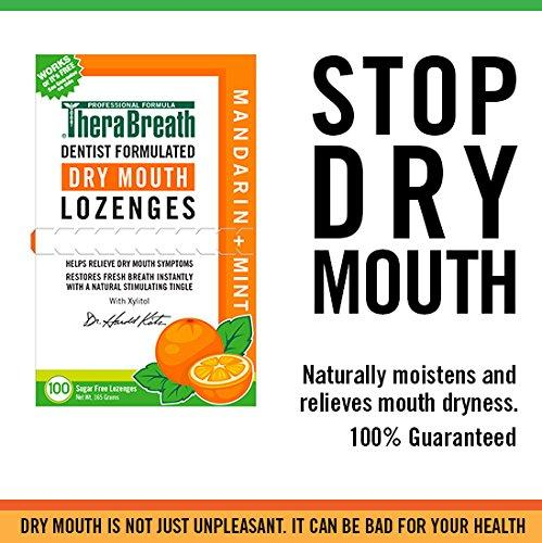 Therabreath Dry Mouth Lozenges - Mandarin Mint (100Pc)