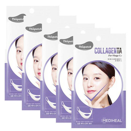 MEDIHEAL Dispatch Collagenta For Visage Up V Line Lifting Band Mask  4 Sheet Korea