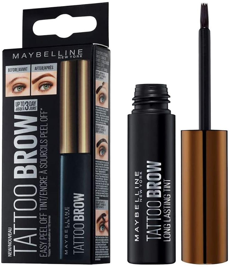 Maybelline New York Brow Tattoo Peel Off Tint Black Brown