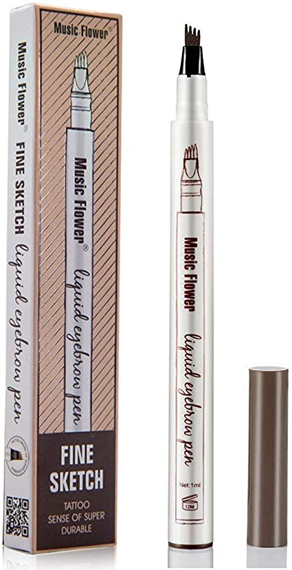 Music Flower Patented Microblading Eyebrow Tattoo Pen - 02 Brown