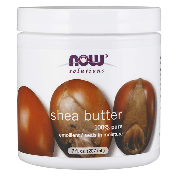 NOW Solutions, Shea Butter, Skin Emollient, Seals in Moisture for Dry Rough Skin, 207 ml