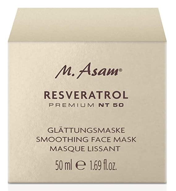 M. Asam, Resveratrol Premium NT50 Smoothing Face Mask, masque lissant 50 ML