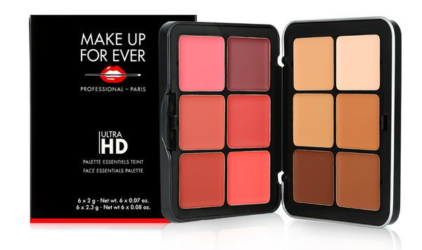 make up for ever ultra hd palette essntials  teinte face essntials palette