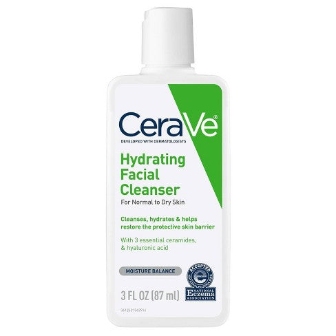 CeraVe Hydrating Facial Cleanser for Normal to Dry Skin - 87 ml