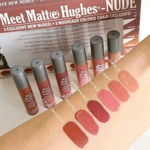 the Balm Meet Matt(e) Hughes 6 Mini Liquid Lipsticks - Nude