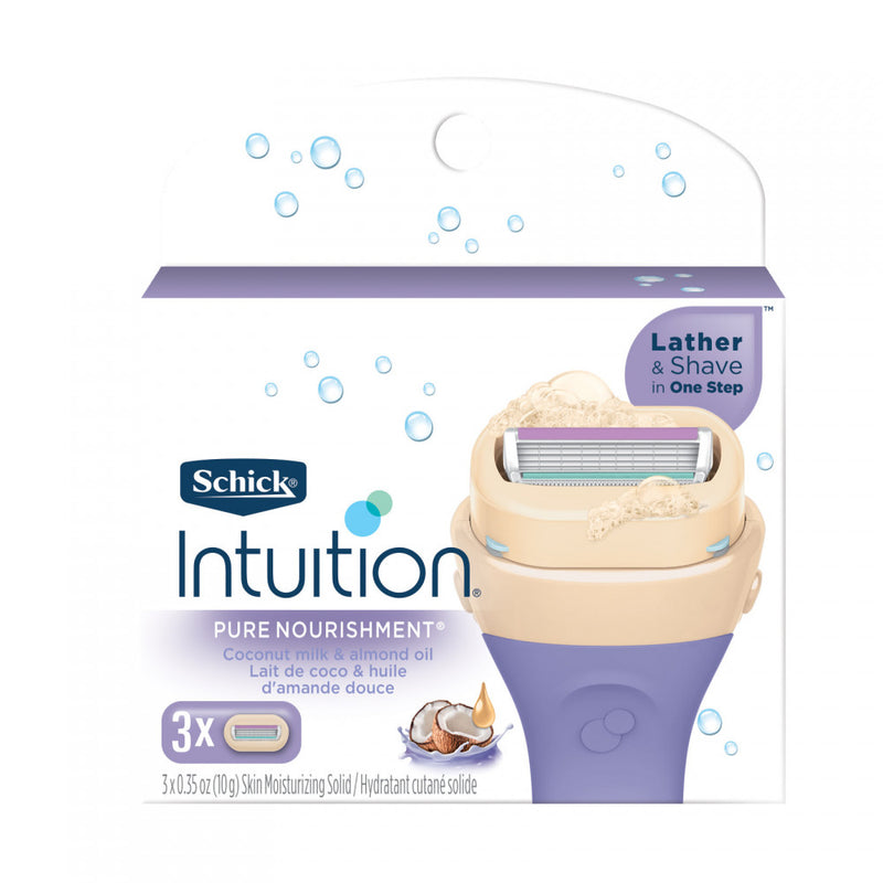 Schick Intuition Pure Nourishment Coconut Milk and Almond Oil 3 count