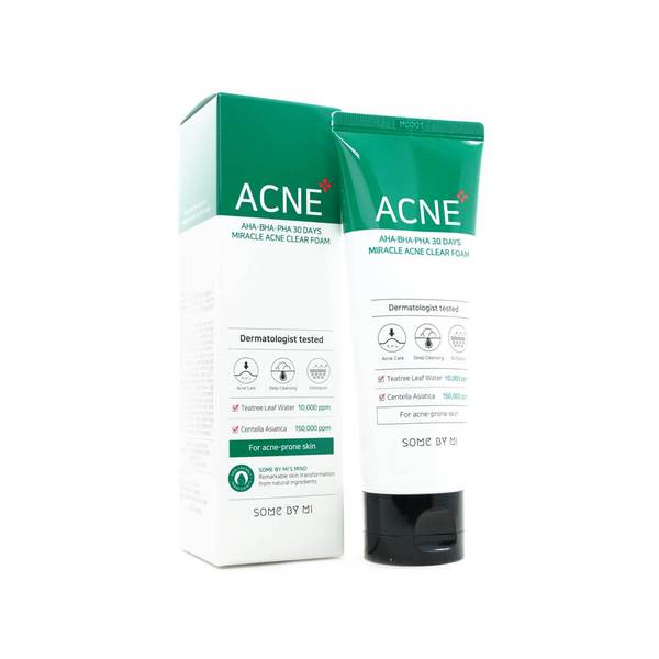 SOME BY MI - AHA, BHA, PHA 30 Days Miracle Acne Clear Foam 100ml