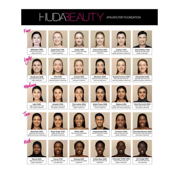 HUDA BEAUTY #FauxFilter Foundation  panna cotta 130g  - 35 ml
