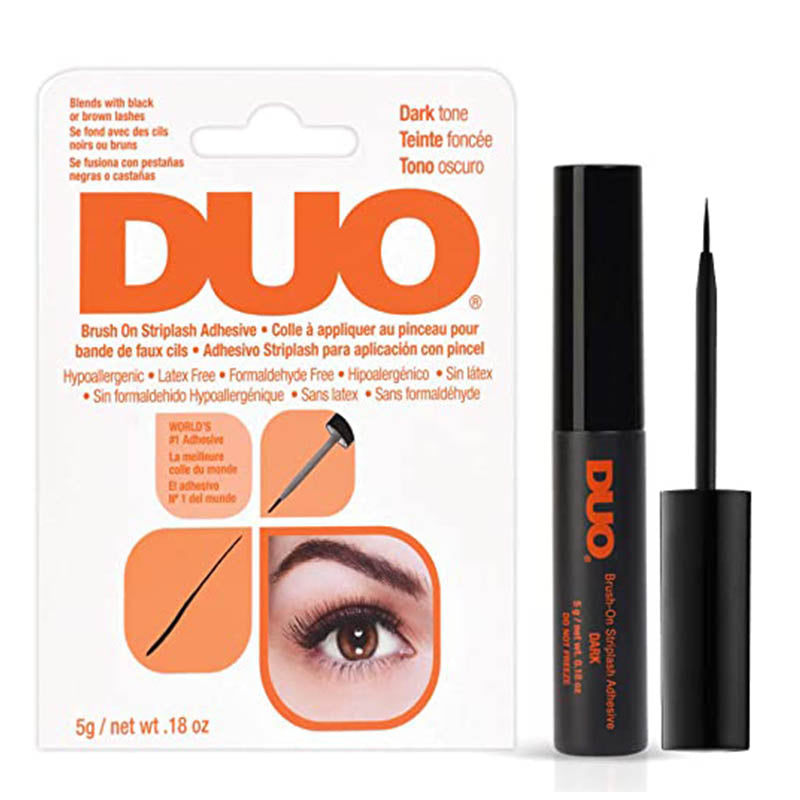 DUO BRUSH-ON LASH ADHESIVE LATEX FREE 5G DARK (DRIES BLACK)