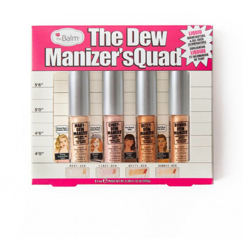 HE BALM - THE DEW MANIZER`SQUAD - Set of 4 Liquid Highlighters