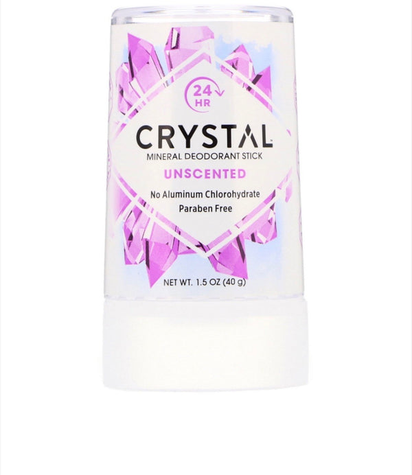 CRYSTAL Mineral Deodorant Stick - Unscented Travel Size 1.5 oz (40g)