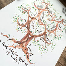Load image into Gallery viewer, Tall Green Anniversary Tree - The Illustrated Tree Co